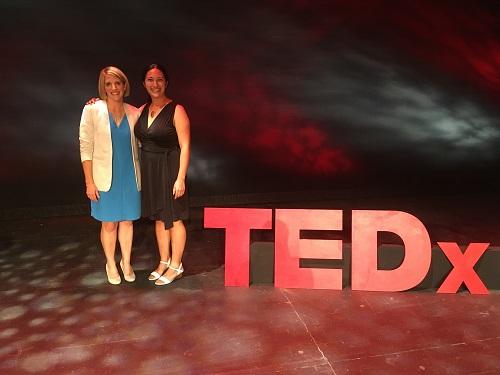 TEDxOneonta - Lauren Parsons with Curator Lisa Samols
