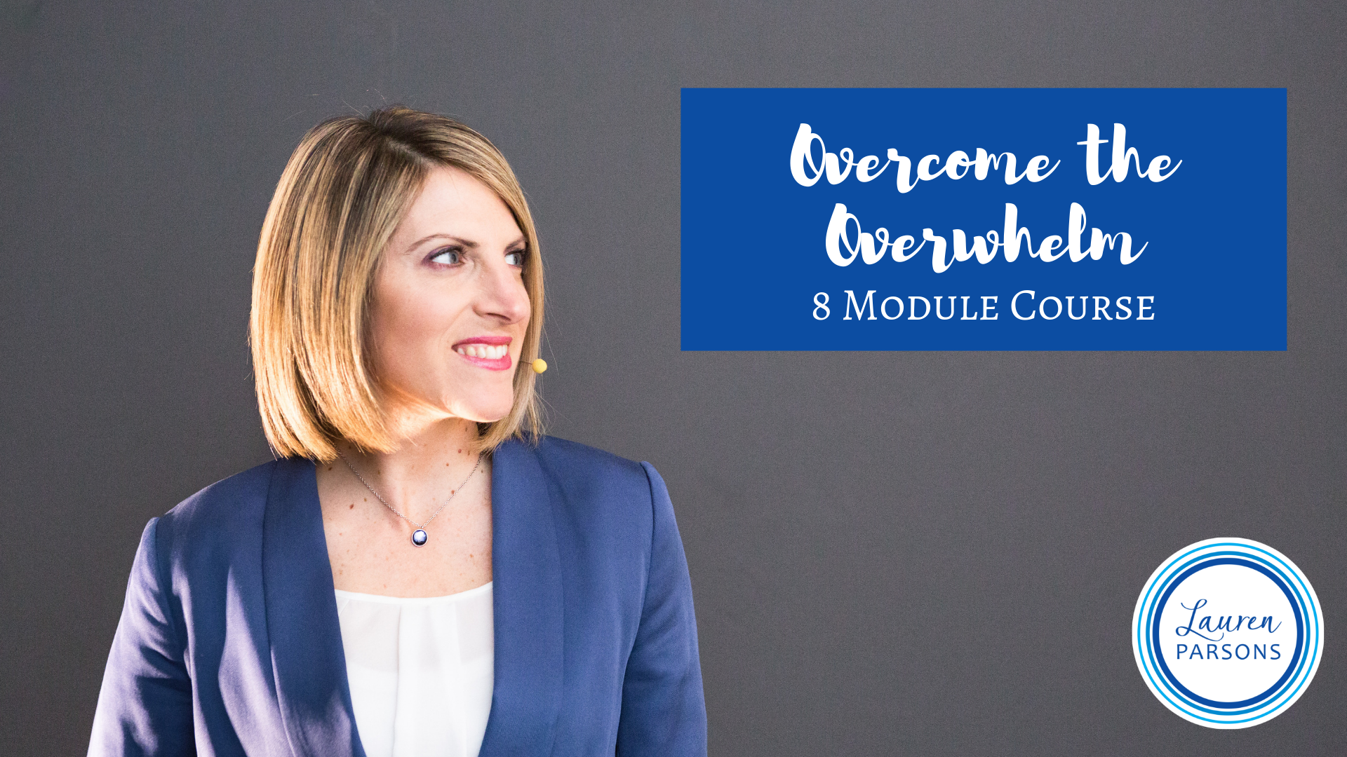 Lauren Parsons Workplace Wellbeing Training - Overcome the Overwhelm