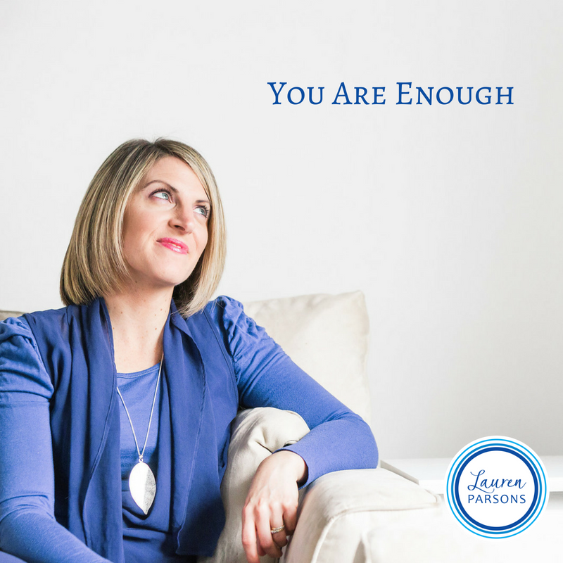 Lauren Parsons Wellbeing Specialist - You are Enough