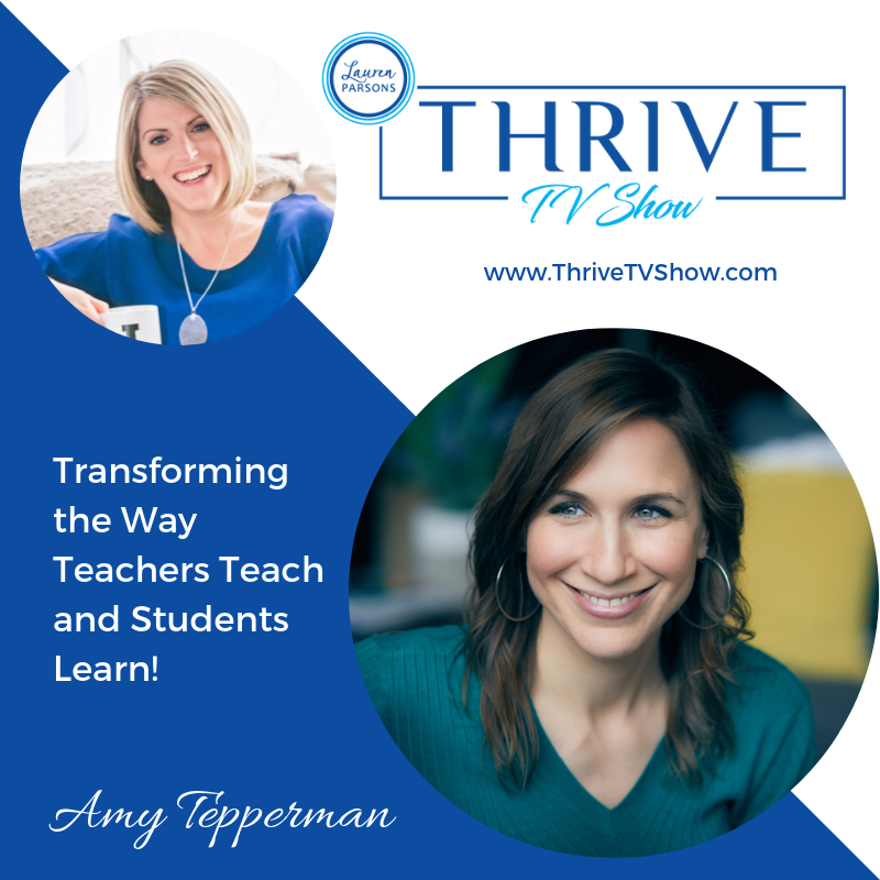 Lauren Parsons Wellbeing Specialists Thrive TV Show Podcast Amy Tepperman