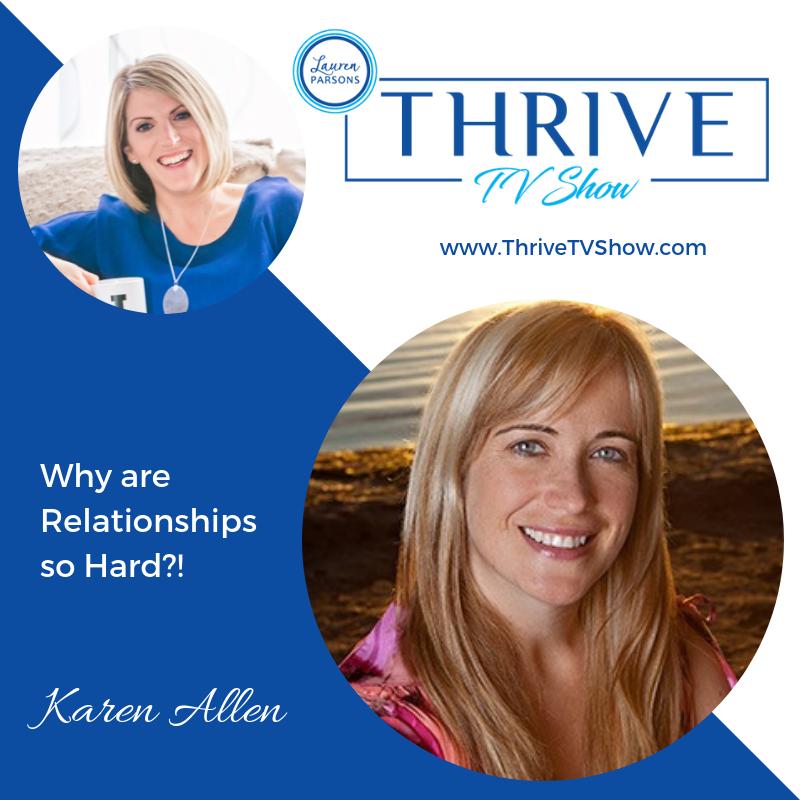 Lauren Parsons Wellbeing Specialists Thrive TV Show Podcast Karen Allen